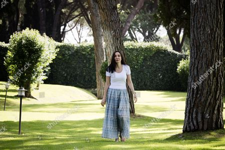 Editorial photo of Michelle Bonev gives a press conference at her home in Rome, Italy - 05 Jul 2014