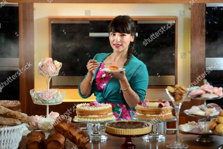 Chef Rachel Khoo at the new pop-up 'Steam Patisserie'