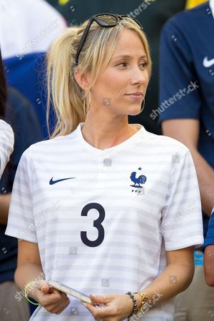 Stock Photo of Sandra Evra the wife of Patrice Evra of France