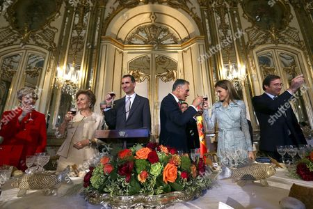 Editorial picture of Spanish Royals visit to Lisbon, Portugal - 07 Jul 2014