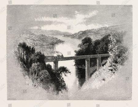 St. John River, Near Newbury Junction, Canada, Nineteenth Century Engraving.