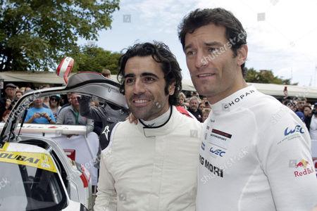 Dario Franchitti with Mark Webber