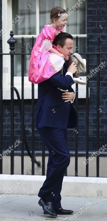 David Cameron and daughter Florence Cameron