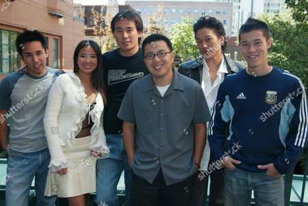 Parry Shen, Karin Anna Cheung, Roger Fan, director Justin Lin,