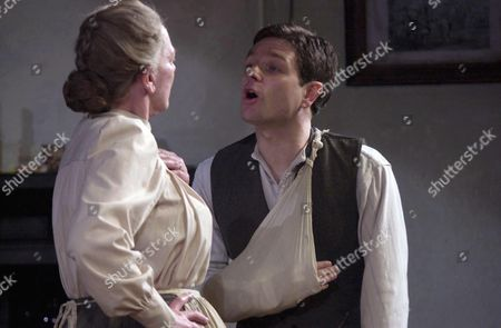 Marjorie Yates as 'Mrs Gascoyne' with Matthew Dunster as 'Joe Gascoyne'