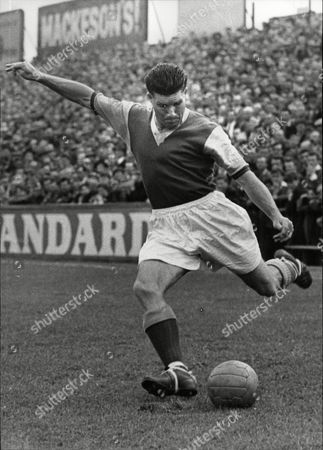 Footballer Ken Tucker In Action For West Ham United 1956.