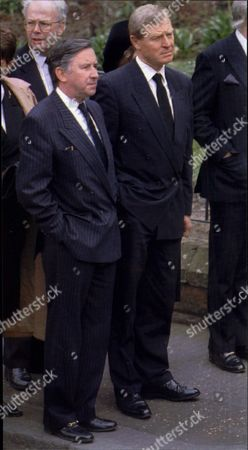 Sir David Steele (l) And Paddy Ashdown Attending The Funeral Of Labour Party Leader John Smith In Edinburgh.