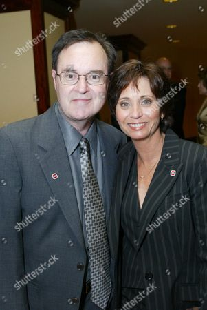 David Lander and wife Cathy Fields