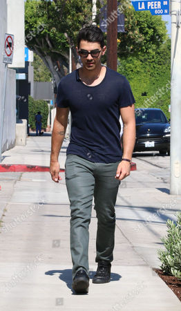 Editorial picture of Joe Jonas and Blanda Eggenschwiler out and about, Los Angeles, America - 08 Jul 2014