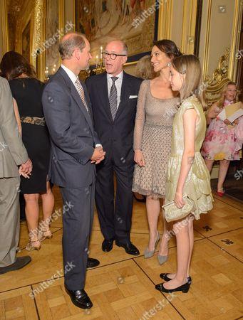 Prince Edward, Sir Harry Nuttall, Lady Dalit Nuttall and Amberley Nuttall