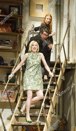 Rosalie Craig as Clea, Paul Ready as Brinsley Miller, Robyn Addison as Carol