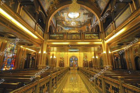 Interior of the Coptic-Orthodox church All Saints who Live in Heaven, El Samaaeyeen, Sharm el-Sheikh, Sinai Peninsula, Egypt