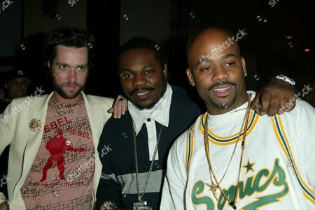 Rufus Wainright, Beanie Sigel and Damon Dash at the Stella McCartney Boutique Opening, September 20, 2002, NYC