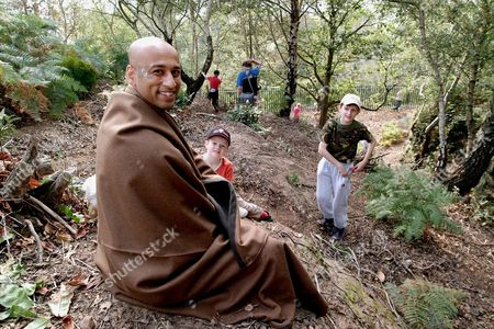Editorial photo of ANSUMAN BISWAS WHO SPENT 53 HOURS AS A HERMIT AT SHUGBOROUGH HALL ESTATE, STAFFORDSHIRE, BRITAIN - SEP 2002