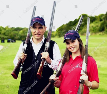 Vinnie Jones and 15 year old Commonwealth Gold medalist Charlotte Kerwood