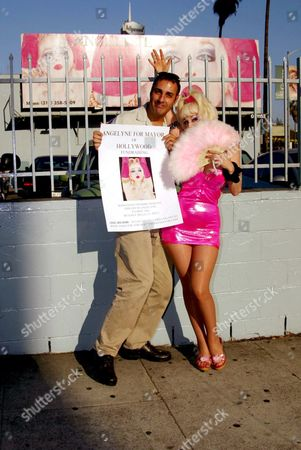 Angelyne AND PHOTOGRAPHER PETER BROOKER