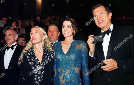 Gabriele Albertini, Franca Sozzani, Queen Rania and Mario Testino