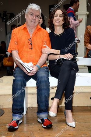 Stock Photo of Tim Blanks and Nicole Phelps