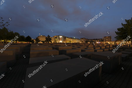 Holocaust Memorial in the evening, Embassy of the United States, Ebertstraße, Berlin, Germany