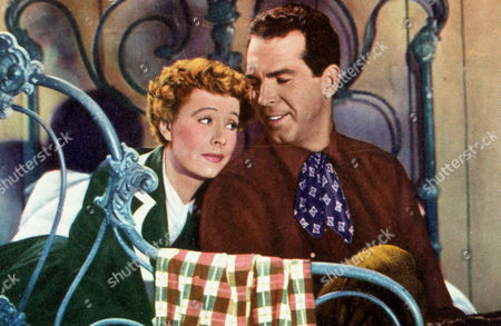 FILM STILLS OF 'NEVER A DULL MOMENT' WITH 1950, BED (IN/ON), IRENE DUNNE, FRED MacMURRAY, GEORGE MARSHALL IN 1950