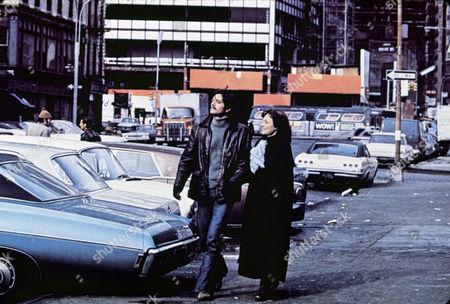 FILM STILLS OF 'BELIEVE IN ME' WITH 1971, JACQUELINE BISSET, CITY STREET, MICHAEL SARRAZIN, WALKING IN 1971