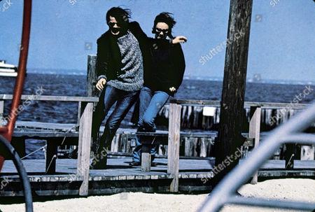 FILM STILLS OF 'BELIEVE IN ME' WITH 1971, JACQUELINE BISSET, DOCK, OCEAN, RUNNING, MICHAEL SARRAZIN IN 1971