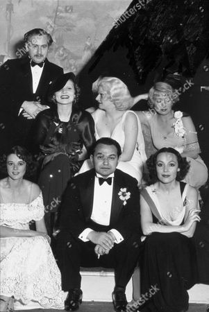 FILM STILLS OF 1932, ALL-STAR GROUPS, HEATHER ANGEL, JOAN BLONDELL, CLOTHING, DOLORES DEL RIO, MARLENE DIETRICH, EVENING GOWN, GROUP, JEAN HARLOW, PARTYING, EDWARD ROBINSON G, TUXEDO, JOSEF VON STERNBERG IN 1932