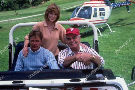 FILM STILLS OF 'AIRWOLF - TV' WITH 1986, ERNEST BORGNINE, JEAN BRUCE SCOTT, JAN-MICHAEL VINCENT IN 1986
