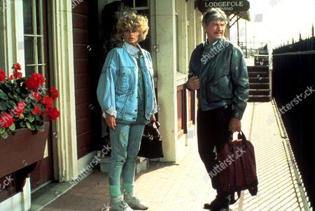 Stock Image of FILM STILLS OF 'ASSASSINATION' WITH 1987, CHARLES BRONSON, PETER HUNT, JILL IRELAND IN 1987