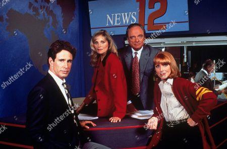 FILM STILLS OF 'WIOU - TV' WITH 1990, MARIETTE HARTLEY, HELEN SHAVER, JOHN SHEA, HARRIS YULIN IN 1990
