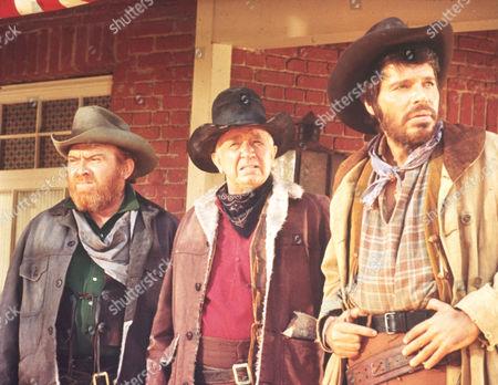 FILM STILLS OF 'SUPPORT YOUR LOCAL SHERIFF' WITH 1969, WALTER BRENNAN, GENE EVANS, BURT KENNEDY, DICK PEABODY IN 1969