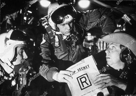 FILM STILLS OF 'DR. STRANGELOVE' WITH 1964, STANLEY KUBRICK, SLIM PICKENS IN 1964