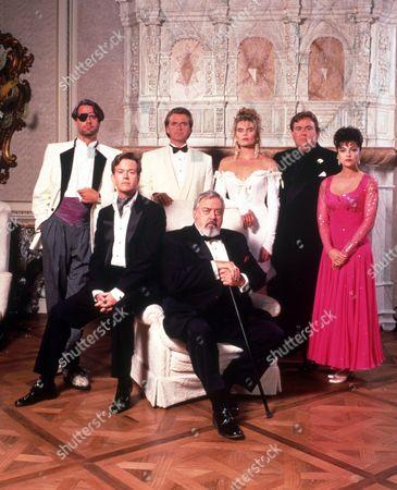 FILM STILLS OF 'DELIRIOUS' WITH 1991, DYLAN BAKER, RAYMOND BURR, JOHN CANDY, ENSEMBLE, MARIEL HEMINGWAY, TOM MANKIEWICZ, DAVID RASCHE, CHARLES ROCKET, EMMA SAMMS IN 1991