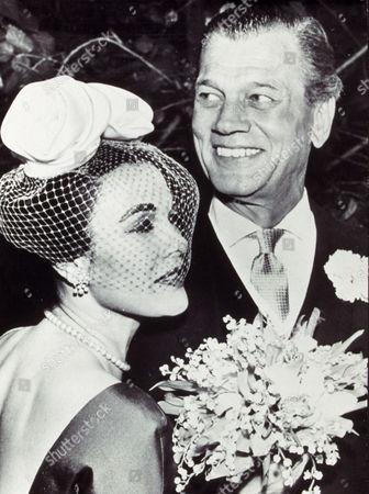 JOSEPH COTTON AND PATRICIA MEDINA WEDDING