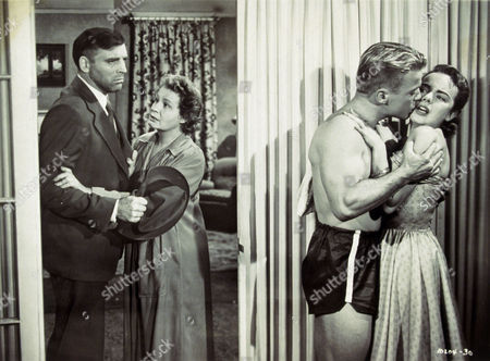 FILM STILLS OF 'COME BACK LITTLE SHEBA' WITH 1952, SHIRLEY BOOTH, RICHARD JAECKEL, BURT LANCASTER, DANIEL MANN, TERRY MOORE IN 1952