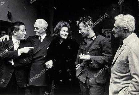 FILM STILLS OF 'CONDEMNED OF ALTONA' WITH 1962, VITTORIO DeSICA, ENSEMBLE, SOPHIA LOREN, ABBY MANN, FREDRIC MARCH, MAXIMILIAN SCHELL IN 1962
