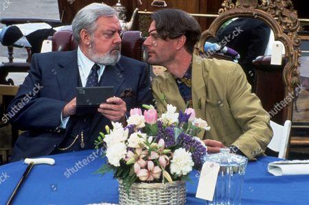 FILM STILLS OF 'DELIRIOUS' WITH 1991, RAYMOND BURR, TOM MANKIEWICZ, CHARLES ROCKET IN 1991