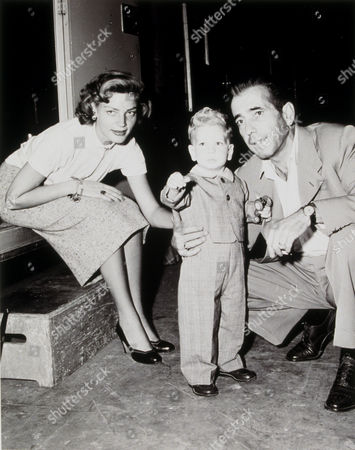 FILM STILLS OF 1950, LAUREN BACALL, HUMPHREY BOGART, STEPHEN BOGART, FAMILIES (REAL), MOVIE SET, SON, BEHIND THE SCENES IN 1950