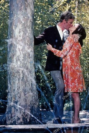 FILM STILLS OF 'DEADFALL' WITH 1968, MICHAEL CAINE, BRYAN FORBES, GIOVANNA RALLI, ROMANCE IN 1968