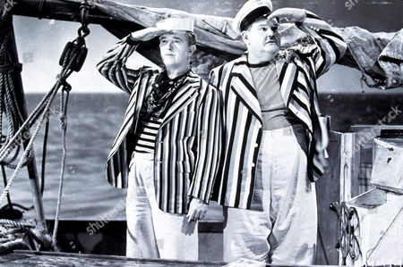 FILM STILLS OF 'SAPS AT SEA' WITH 1940, GORDON DOUGLAS, OLIVER HARDY, LAUREL & HARDY, STAN LAUREL IN 1940