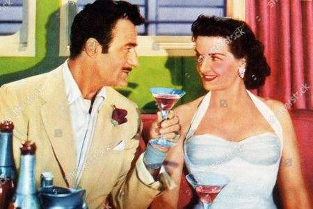 FILM STILLS OF 'FRENCH LINE' WITH 1954, LLOYD BACON, GILBERT ROLAND, JANE RUSSELL IN 1954