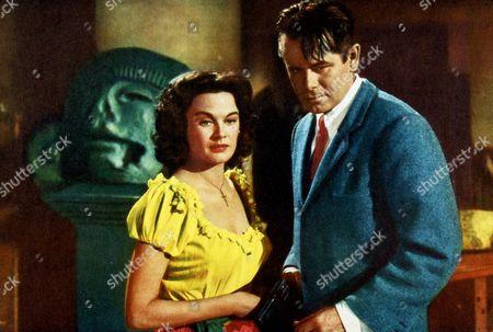 FILM STILLS OF 'PLUNDER OF THE SUN' WITH 1953, JOHN FARROW, GLENN FORD, PATRICIA MEDINA IN 1953