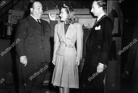 FILM STILLS OF 'SABOTEUR' WITH 1942, ALFRED HITCHCOCK, PRISCILLA LANE, NORMAN LLOYD IN 1942