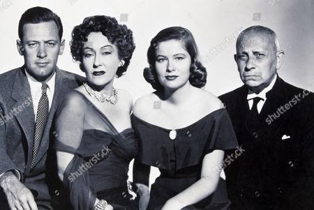 FILM STILLS OF 'SUNSET BOULEVARD' WITH 1950, WILLIAM HOLDEN, NANCY OLSON, GLORIA SWANSON, ERICH VON STROHEIM, BILLY WILDER IN 1950