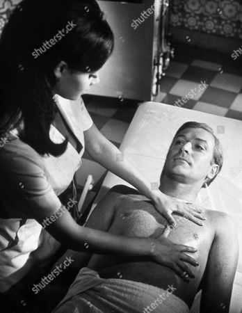 FILM STILLS OF 'DEADFALL' WITH 1968, MICHAEL CAINE, BRYAN FORBES, GIOVANNA RALLI IN 1968