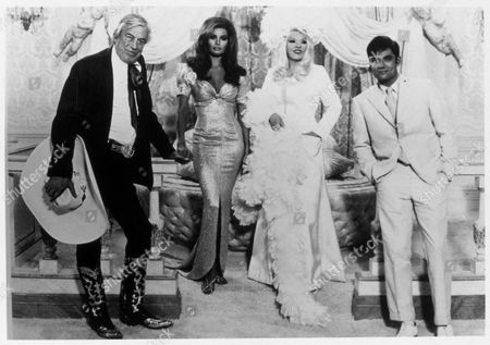 FILM STILLS OF 'MYRA BRECKINRIDGE' WITH 1970, JOHN HUSTON, REX REED, MICHAEL SARNE, RAQUEL WELCH, MAE WEST IN 1970