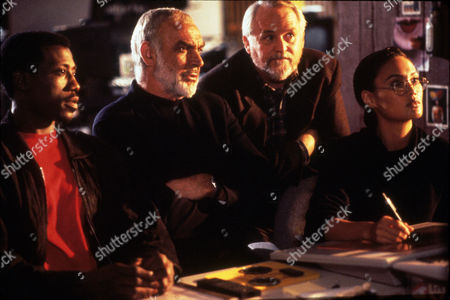 FILM STILLS OF 'RISING SUN' WITH 1993, TIA CARRERE, SEAN CONNERY, PHILIP KAUFMAN, DAKIN MATTHEWS, WESLEY SNIPES IN 1993
