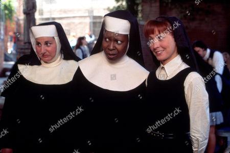 FILM STILLS OF 'SISTER ACT 2: BACK IN THE HABIT' WITH 1993, CLOTHING, BILL DUKE, WHOOPI GOLDBERG, WENDY MAKKENA, KATHY NAJIMY, NUN'S HABIT IN 1993