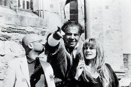 FILM STILLS OF 'CUL DE SAC' WITH 1966, FRANCOISE DORLEAC, DONALD PLEASANCE ROMAN POLANSKI, LIONEL STANDER IN 1966