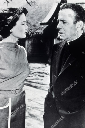 FILM STILLS OF 'LEFT HAND OF GOD' WITH 1955, HUMPHREY BOGART, EDWARD DMYTRYK, GENE TIERNEY IN 1955